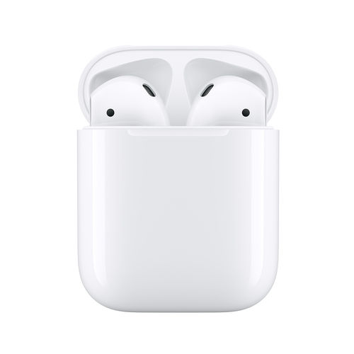 Apple AirPods (Modelo 2019). Con estuche de carga por cable.
