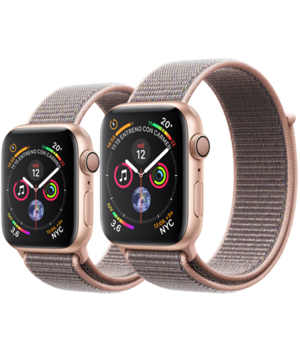 Apple Watch S4 Caja de aluminio en Oro de 40mm o 44mm, GPS o Cellular. Correa Loop rosa arena