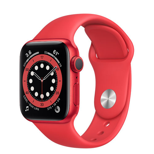 Apple Watch S6 Caja de aluminio en Rojo de 40mm o 44mm, GPS o Cellular. Correa deportiva roja